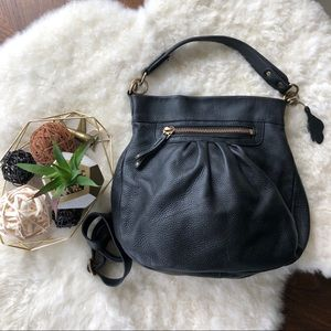 🇨🇦Roots🇨🇦 Olivia Bag in Black Kalahari Leather